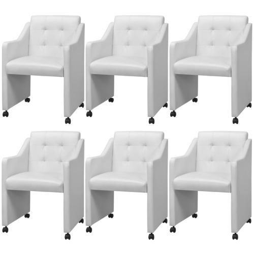 Esszimmerstühle 6 Stück Weiß 59x57.5x86.5 cm
