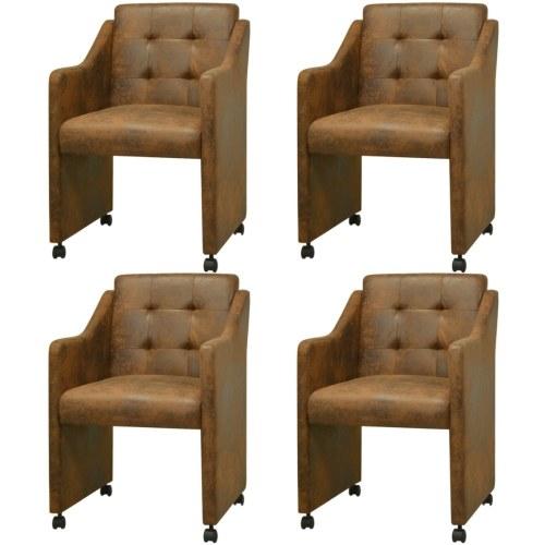 Столовые стулья 4 шт Браун 59x57.5x86.5 см