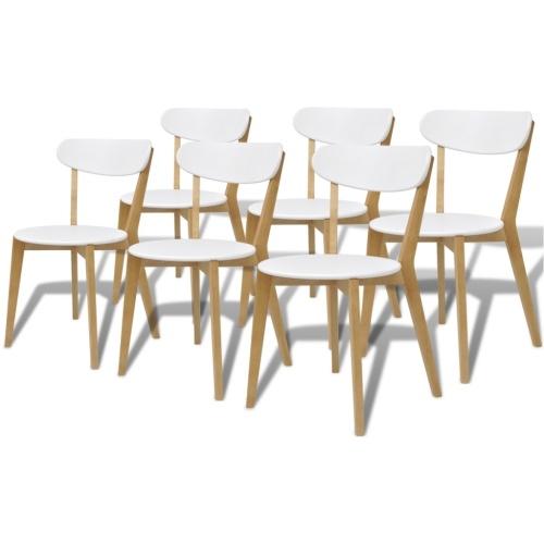 Столовые стулья 6 шт. в МДФ и березовой древесине