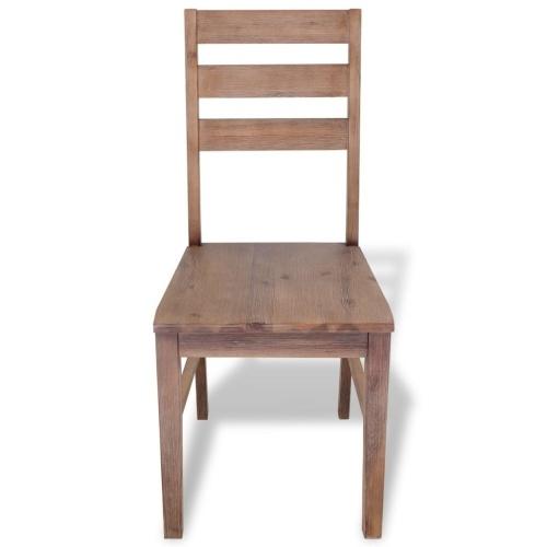 Обеденные стулья 6 шт. Из массива Acacia 42x49x90 см