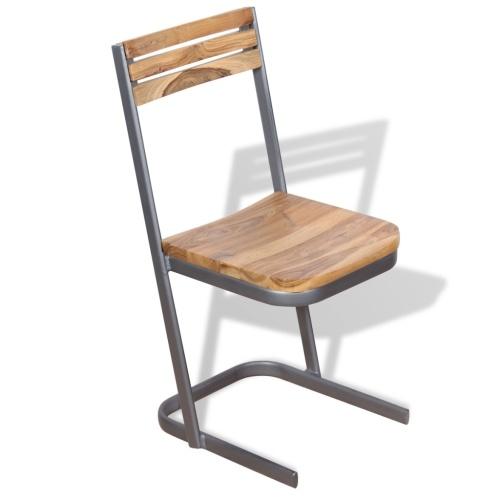 4 шт. Твердые деревянные тиковые столовые стулья
