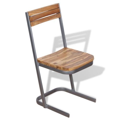 Шестигранные стулья из тикового дерева 6 шт.