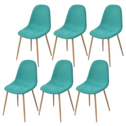 6 шт. Зеленые стулья для столовой