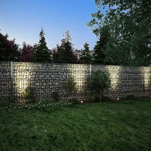 set of 2d gabion fences 2008x1030 mm 2 m galvanized