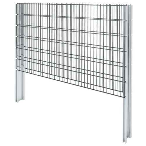 Ensemble de clôtures Gabion 2D 2008x1230 mm 12 m Gris