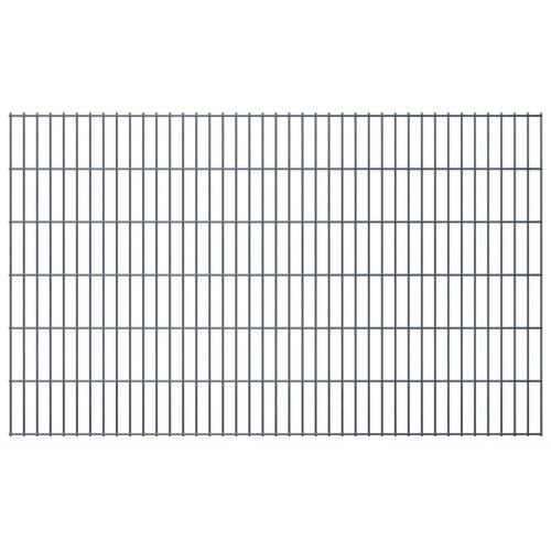 Ensemble de clôtures Gabion 2D 2008x1230 mm 14 m Gris