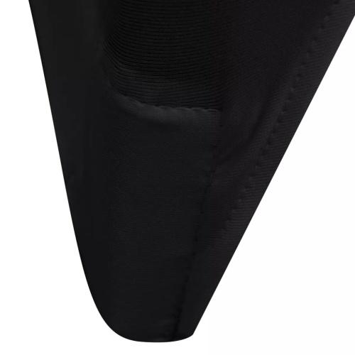 100 Stück Stuhlhussen in schwarzem Stretch-Stoff