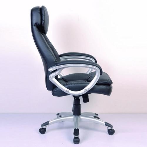 Silla de cuero giratoria de oficina silla de NA, Negro