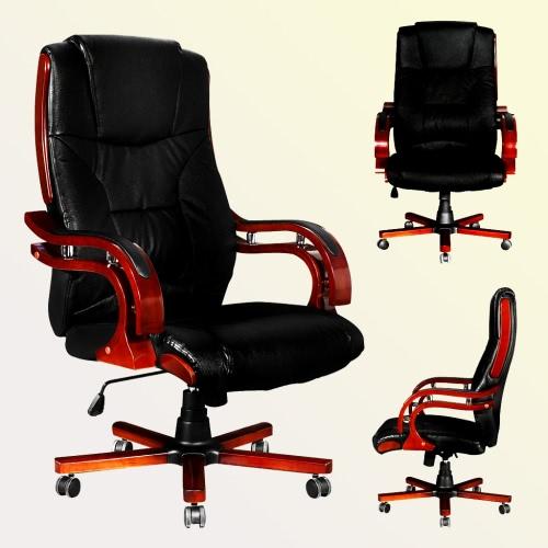silla ejecutiva de cuero con respaldo alto