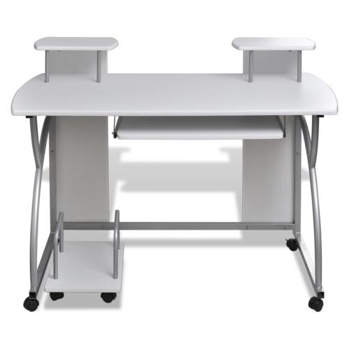 escritorio del ordenador con sofá-cajón acabado blanco