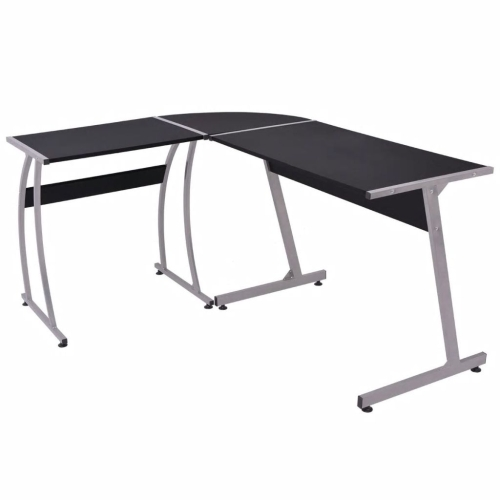 Corner Desk L-Shaped Black