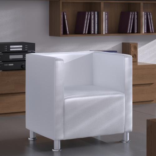 Moderna de cuero blanco de imitación de hidromasaje Diseño Sillón club Wh
