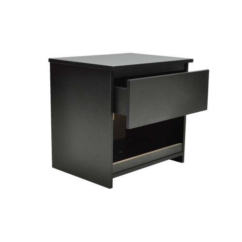 Couple modern bedside tables for two set with a tray blacks