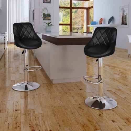 2 xBlack Bar Stool