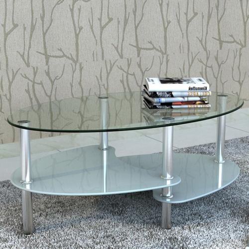 Mesa de café exclusivo de 3 capas blanco Diseño
