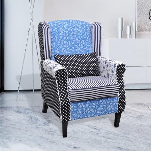 Patchwork Sillón Relax Vida campestre estilo de la flor azul y blanco