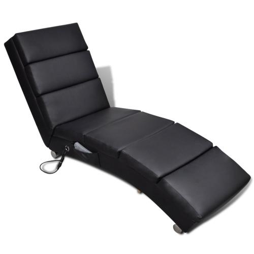 Masaje de la silla eléctrica funcional Negro