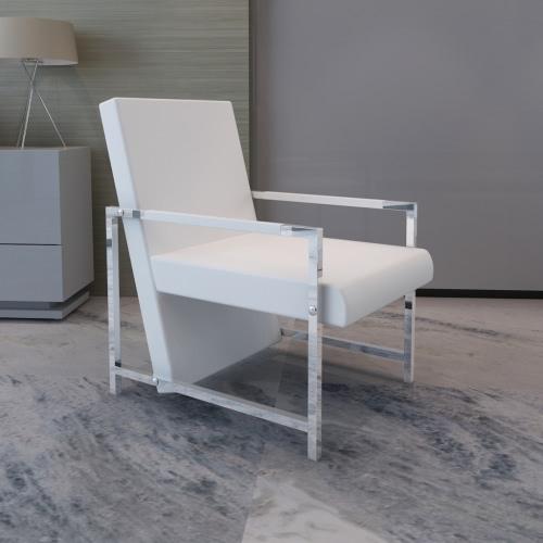 Cubo Relax sillón blanco con los pies cromo de alta calidad