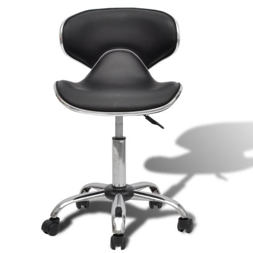 Salon Professional SpA Sgabello Curvo Design con schienale nero