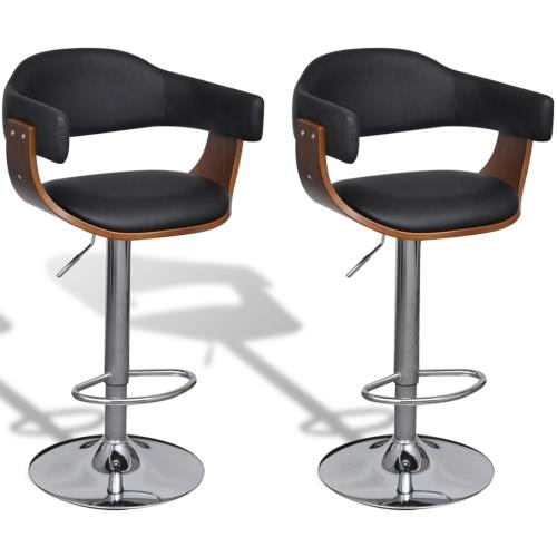 Bars Kunstlederstuhl, höhenverstellbare Rückenlehne 2 Stück