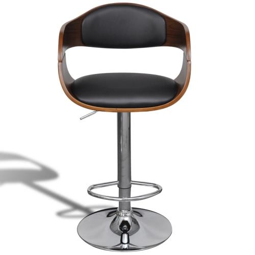 Pelle Bar Stool sedia regolabile in altezza con schienale bracciolo
