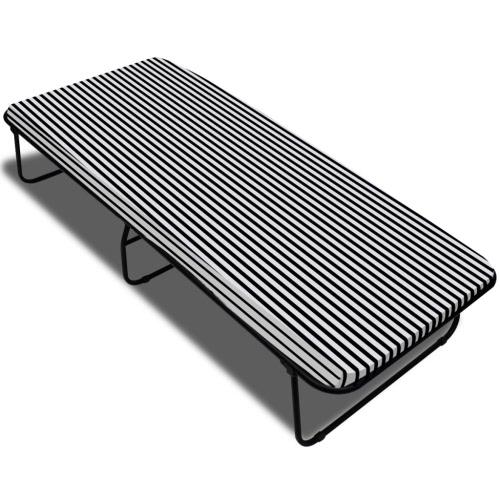 Espiral cama plegable con colchón de 190 x 80 x 40 cm