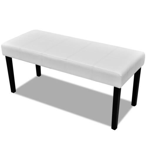 Blanc Haute Qualité cuir artificiel Bench