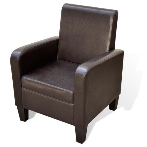 Gepolsterte Sessel Moderne Kunstleder Braun