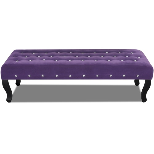 Bench in Velvet Purple with Crystal Buttons