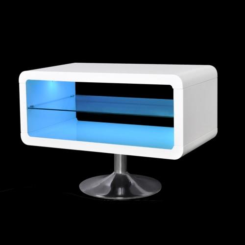 LED de alto brillo blanco Mueble de TV 80 cm