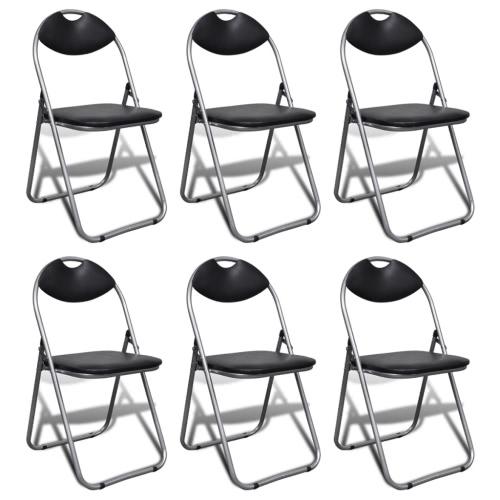 6 Stück faltbare Stuhl Set