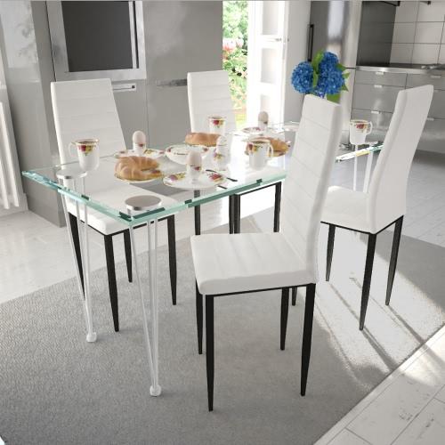 4 pezzi Bianco Slim Line Dining Chair