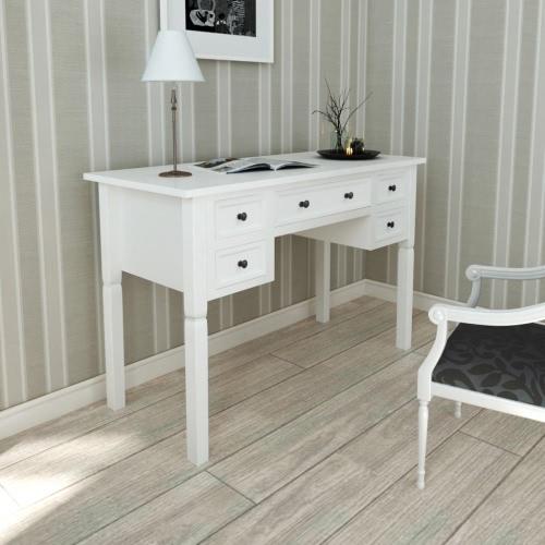 белый стол с 5 ящиками