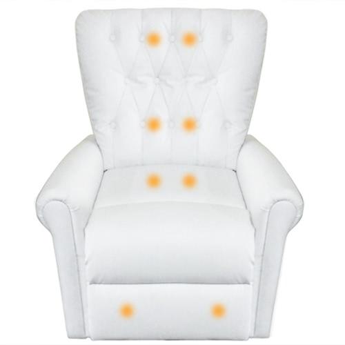 Cuero blanco eléctrico artificial de sillón reclinable de masaje