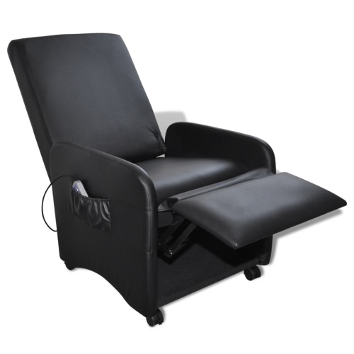 Cuero negro plegable de masaje reclinable Artificial