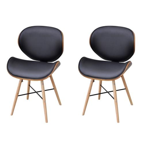 2 Stück Armless Dining Chair mit Bugholz-Rahmen