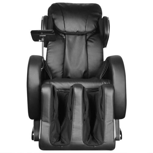Sillón de masaje eléctrico en cuero artificial negro