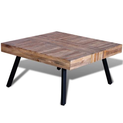 Tavolino quadrato teak riciclato