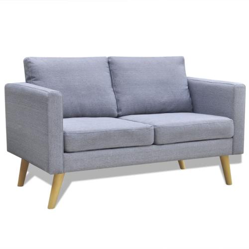 2 Seater Sofa in Light Gray Fabric
