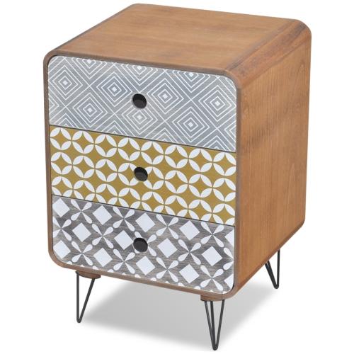 Боковой шкаф с 3 ящиками коричневый