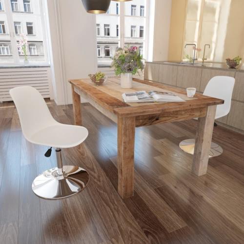 2 Altura ajustable giratoria comedor sillas blancas