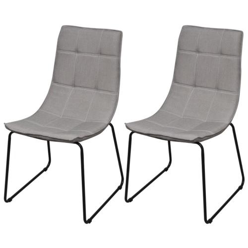 2 Sillas de comedor piernas de hierro gris claro