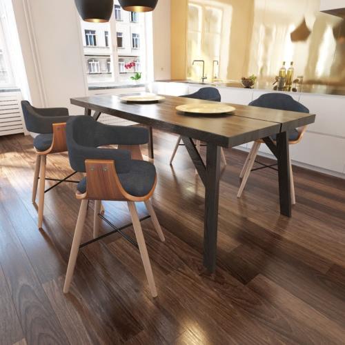 4 Stück Dining Chair Bentwood mit Stoff Möbel