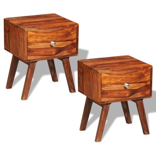 Tables de nuit / tables d'appoint vintage sheesham (2 x 242 461)
