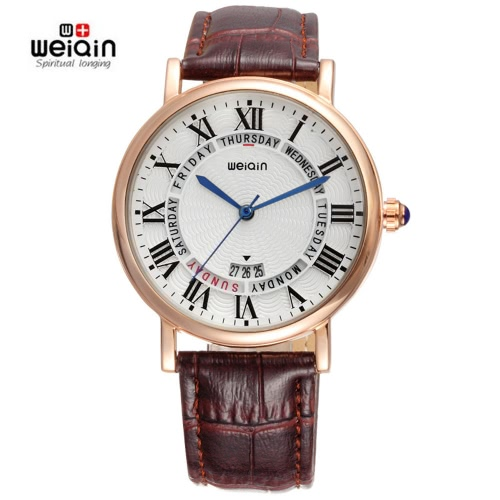 WEIQIN Auto Date 3ATM Casual Fashion Women's Watches