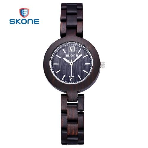 CHICA mujer Eco Natural hecho a mano sándalo madera relojes mujer reloj de pulsera de cuarzo analógico señora vestido