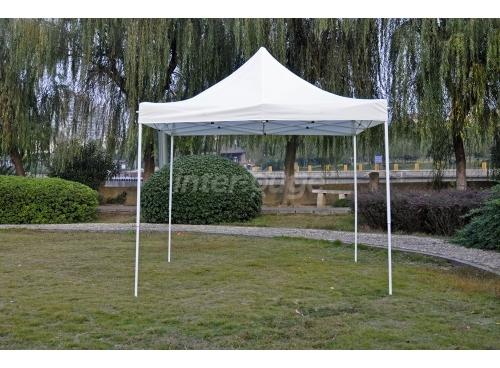 Pieghevole tenda 3x3m poliestere 180 g/m ² bianco
