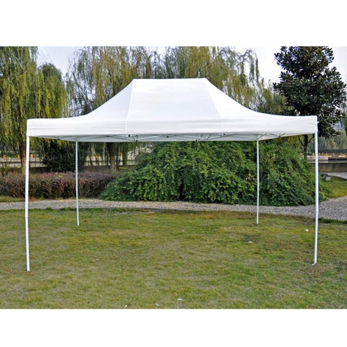 3 * 4.5m pieghevole tenda CEO serie poliestere 180g / m ² bianco
