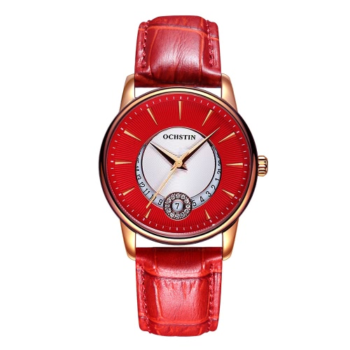 OCHSTIN Brand Роскошные неподдельные кожаные кварцевые повседневные женские часы