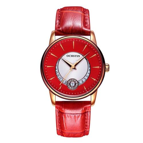 OCHSTIN Brand Luxury Genuine Leather Quartz Casual Women's Watches